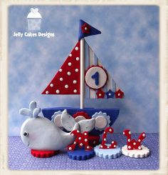 Boy's Sailboat cake topper set | Flickr - Photo Sharing!