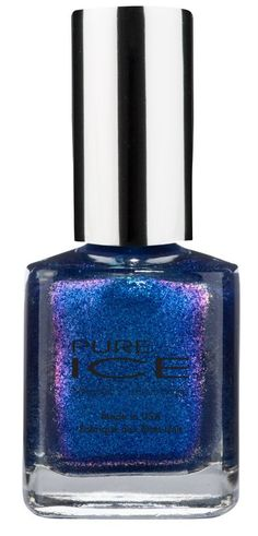 I got this in my @influenster #jinglevoxbox i didnt know it had purple sparkles and shimmers in it! I love it so much more now that ive tried it out. #pureicenailpolish @pureicenailpolish #dejavu Pure Ice - Deja Vu
