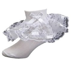 Fancy Lace and Ribbon Bobby Socks for Girls Greatlookz Colors: White Childrens Sizes: 8-9 1/2 (7 to 8 years) Greatlookz,http://www.amazon.com/dp/B005TACJWI/ref=cm_sw_r_pi_dp_s0pitb1PGPMC3467