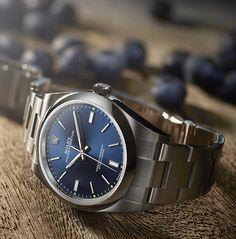 Rolex Oyster Perpetual 39 with a rich blue dial. A modern heir to the original Rolex Oyster with a zest of eye-catching and sporty colours.