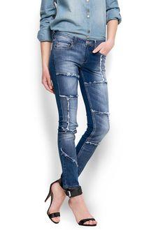 Mango jeans patchwork