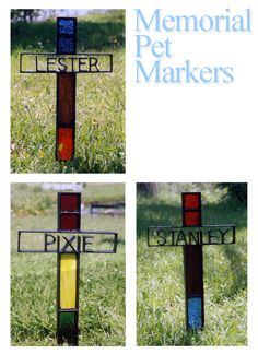 Sharin' the Info.......Its always a sad event but it happens to us all. Often as not we like to lay our pets to rest on our properties. YardBirds now offers simple memorials crosses that can have stained glass options as well as have the pet's name inserted in the cross.
