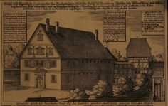 Malefiz house - from original copper engraving Produced by Peter Ysselburg in 1628