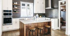 Best Flooring, Vinyl Plank Flooring, Wood Flooring, Farmhouse Flooring, Hardwood Floor, Flooring Options, Kitchen Flooring, Brown Cabinets, Kitchen Cabinets