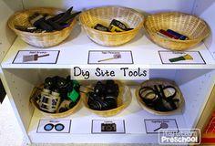 Dinosaur Dig Site tools