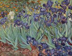 Los lirios (Van Gogh) Una de las obras más populares de Van Gogh. Realizada durante su estancia en el hospital mental de Saint-Rémy. Las flores ocupan todo el espacio. El autor recurre a tonos verdes y malvas, que acompañados de naranjas y amarillos crean una composición cromática y de luz.