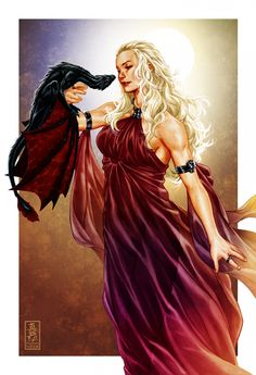 Daenerys Targaryen - Game of Thrones - Mark Brooks Daenarys Targaryen, Comics Illustration, Game Of Thones, Frank Cho, Game Of Throne Daenerys, My Champion, Game Of Thrones Art, Jaime Lannister, Iron Throne