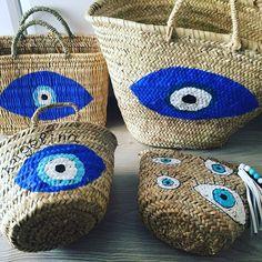 Evil Eye Straw Bags