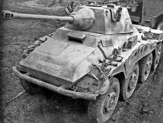 The Sd.Kfz. 234 (Sonderkraftfahrzeug 234, or Special Purpose Vehicle 234), was a family of armoured cars designed and built in Germany during World War II. The vehicles were lightly armoured, armed with a 20, 50 or 75 mm main gun, and powered by a Tatra V12 diesel engine.[3] The Sd.Kfz. 234 broadly resembles the appearance of Sd.Kfz. 231 (8 rad)
