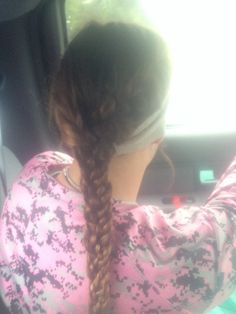 French braid and 3 braids into one! really easy good to play softball