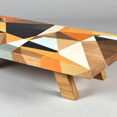 unique furniture design idea, coffee table decorated with graffiti