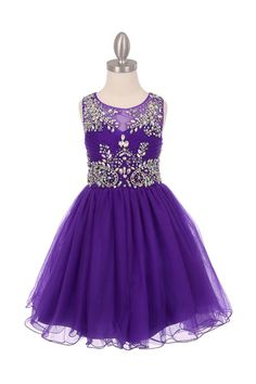Flower girl dress purple tulle with exquisite by CreativeCabral