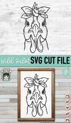 Flower On Head, Cricut Svg Files Free, Chicken Signs, Chicken Lady, Cute Dog Photos, Flower Svg, Silhouette Cameo Projects, Vinyl Projects, Textured Background