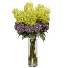 @Overstock - Bring the beauty of flowers indoors without the trouble of watering them with this realistic decorative silk hydrangea plants featuring faux water. This arrangement of mixed silk flowers is ideal to display in any foyer or hallway for an inviting look.http://www.overstock.com/Home-Garden/Giant-Mixed-Hydrangea-Silk-Flower-Arrangement/6267906/product.html?CID=214117 $204.99