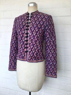 VINTAGE PHOOL JACKET Indian Jackets, Ethnic Outfits, Vintage Hippie, Indian Ethnic, Vintage Items, Vintage Fashion, Cotton, Clothes, Etsy
