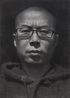 An amazingly realistic self-portrait (pencil on paper) by a DeviantArt artist known online only as The artist is from The People's Republic of China and is clearly very talented in portraiture drawing. Self Portrait Drawing, Portrait Sketches, Portrait Illustration, Portrait Art, Portraits, Human Face Drawing, Guy Drawing, Figure Drawing, Drawing Board