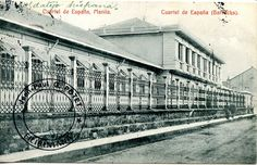 This card represents Spanish barracks (cuartel de España) in Manila circa 1900. It was published by the Librería de Colon, Manila. It was posted at Manila on 1909-03-10. The message, dated 1909-03-09, is adressed to a French gentleman living in Tours, France. It is signed Freire, a postcard publisher in Manila, Hongkong and Shanghai. The text is in Esperanto.