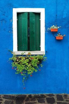 Green beauties from Burano, Italy. For functional shutters, Timberlane is the expert choice. www.timberlane.com