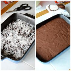 This is a must try and one of our most popular recipes! German chocolate cake mix with chocolate chips, coconut, pecans and a secret swirl layer!