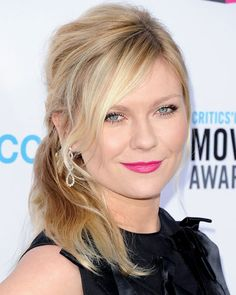 #KirstenDunst wore hot pink lipstick to the 17th Annual Critics' Choice Awards. http://www.instyle.com/instyle/package/general/photos/0,,20574644_20570479_21119862,00.html