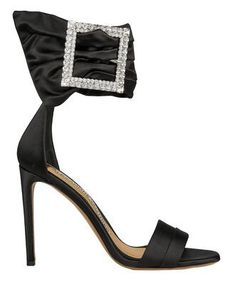 Alexandre Vauthier Yasmin Swarovski Crystal-embellished Patent-leather Sandals In Black Satin Pumps, Patent Leather Pumps, Leather Sandals, Platform Stilettos, Stiletto Heels, Floral Pumps, Manolo Blahnik Hangisi, Embellished Sandals, Alexandre Vauthier