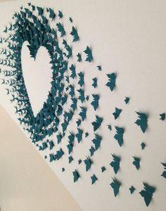 mural de borboletas - diy casamento