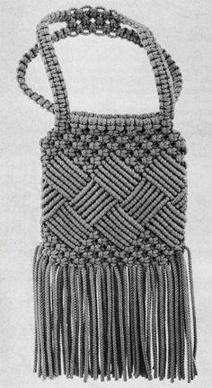 Macrame Shoulder Bag … Macrame Handbag and Key Ring … Etsy - Fashion Etsy Macrame, Macrame Art, Macrame Purse, Bag Women, Diy Bags Purses, Macrame Patterns, Casual Bags, Digital Pattern, Shoulder Bag