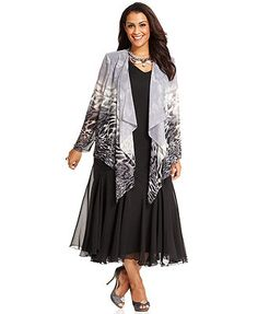 interesting-jessica-howard-plus-size-dresses-black-dresses ...
