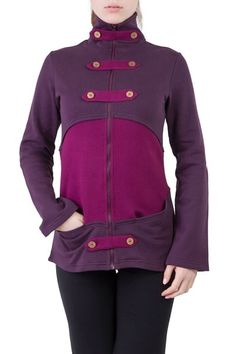 Ajna Design Geronimo Damen Bio Jacke violett Beere Größe M