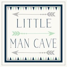 Baby Boy Nursery Decor - Little Man Cave - Navy - Grey - Art with Arrows - Art…