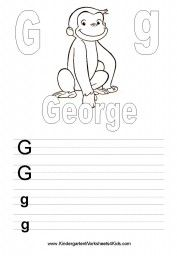 A selection of free printable Kindergarten Worksheets with Curious George. Curious George fans will have fun doing these worksheets! Printable Preschool Worksheets, Alphabet Worksheets, Kindergarten Worksheets, Curious George Crafts, Curious George Birthday, Creative Activities, Book Activities, Preschool Activities, Summer Activities