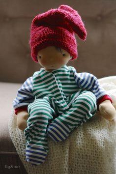 Knitting an elf stocking cap