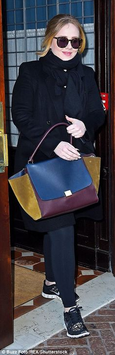 Sam Faiers, pictured left, steps out with her Louis Vuitton tote while Adele, right, sport...