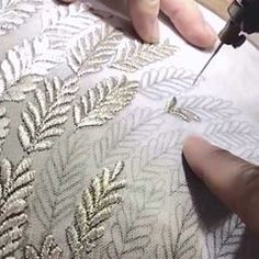 REGAL THREAD'S ode to make in india BANARAS designersuitsincanada designergowns handmadedresses suits indiandresses partyweardresses bridal Tambour Beading, Tambour Embroidery, Couture Embroidery, Couture Sewing, Embroidery Fabric, Embroidery Fashion, Embroidery Stitches, Embroidery Patterns, Machine Embroidery