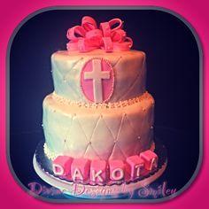 Baptism Cake. Dulce de leche cake.