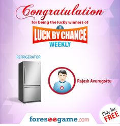 Congratulations to the winner of Luck By Chance Weekly 18!