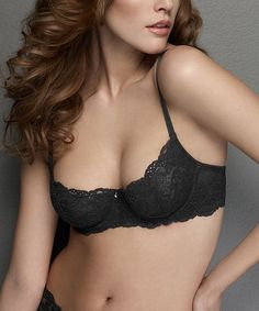 Take a look at this Black Coquette Lace Demi Bra - Women by Montelle Intimates on #zulily today!