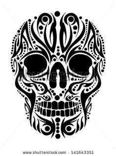 Tattoo Tribal Skull Vector Art - 141643351 : Shutterstock