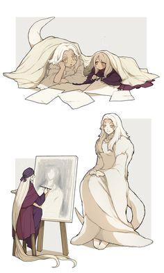 Dark Souls Pricilla the Painting Girl Aria Fantasy Characters, Anime Characters, Dark Fantasy, Fantasy Art, Arte Dark Souls, Soul Saga, Bloodborne Art, Anime Monsters, Bear Art