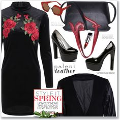 How To Wear Work Wear Patent Leather Outfit Idea 2017 - Fashion Trends Ready To Wear For Plus Size, Curvy Women Over 20, 30, 40, 50