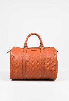 Gucci Orange Guccisima Leather Joy Boston Top Handle Bag