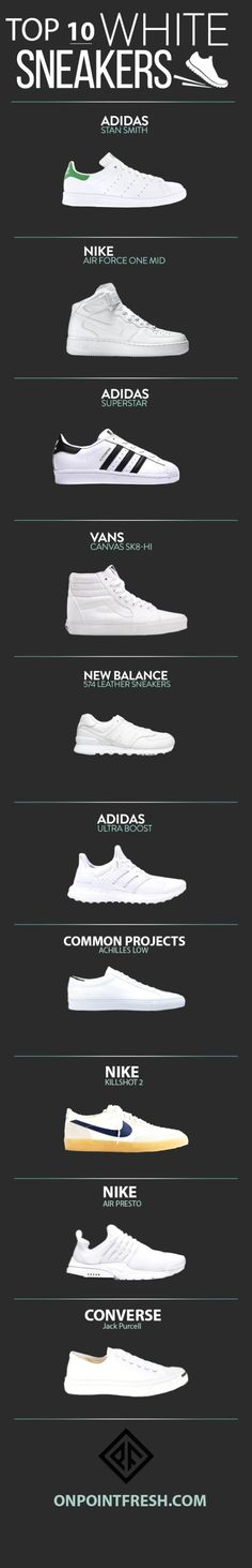 The 10 Best White Sneakers For Men in 2018 is part of Sneakers fashion - White sneakers are a crucial Summer item Pair them with light wash denim for a warm, beach feel Slip on some black jeans for Sneakers Mode, Sneakers Fashion, Running Sneakers, Sneakers Adidas, Sneakers Workout, Work Sneakers, Sneakers Design, Gucci Sneakers, Best White Sneakers