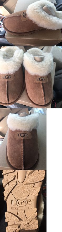1b077dc72e6 Slippers 11632: Ugg Australia Slippers Shoes Slides Aira Black Suede ...