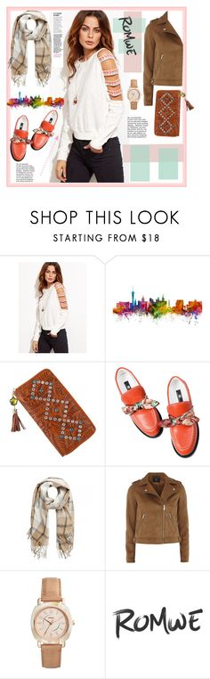 """""""Romwe"""" by natalyapril1976 ❤ liked on Polyvore featuring Dorothy Perkins and FOSSIL"""