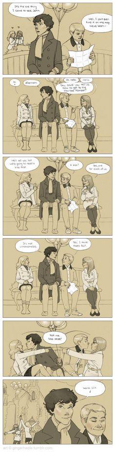 Sherlock + John's Very Silly Disneyworld Adventure by lily-fox on deviantART