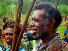 Los Dani en la región de Papua en Indonesia