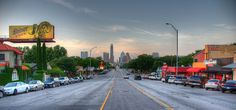 SoCo, the surrounding area of South Congress Avenue, is a vibrant area of Austin, TX. The avenue leads directly into downtown Austin, ending at the state capitol.