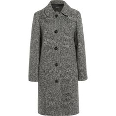 Peel wool-blend tweed coat A.P.C. Atelier de Production et de... (£365) ❤ liked on Polyvore featuring outerwear, coats, gray coat, a.p.c., a p c coat, wool blend coat and gray tweed coat
