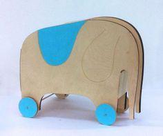 Elephant Ride-On +  Toy Storage