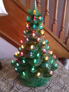 Large Vintage Ceramic Christmas Tree by TeresasTreasuresEtc, $85.00